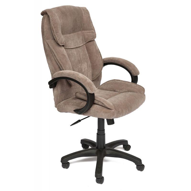 Кресло компьютерное «Ореон» (Oreon) для офиса и дома (Кор-ая ткань флок «Смоки браун»)
