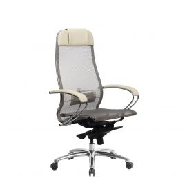 Кресло компьютерное для руководителя Samurai S-1.04 Бежевый (для дома и офиса)