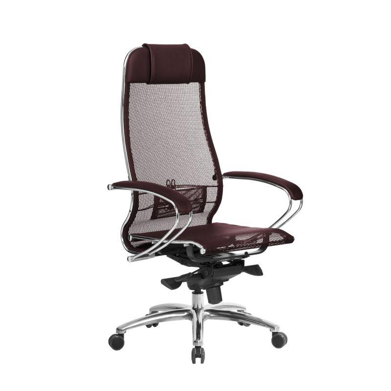 Кресло компьютерное для руководителя Samurai S-1.04 Темно-бордовый (для дома и офиса)