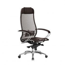 Кресло компьютерное для руководителя Samurai S-1.04 Темно-коричневый (для дома и офиса)