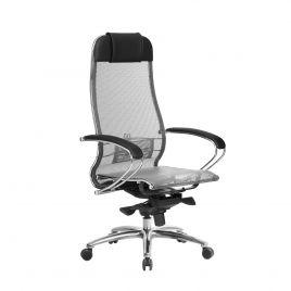 Кресло компьютерное для руководителя Samurai S-1.04 Серый (для дома и офиса)