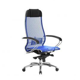 Кресло компьютерное для руководителя Samurai S-1.04 Синий (для дома и офиса)