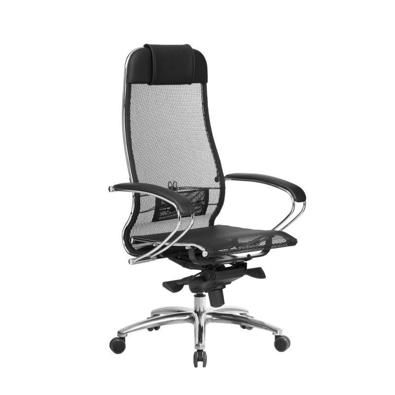 Кресло компьютерное для руководителя Samurai S-1.04 Черный (для дома и офиса)