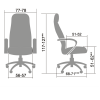 Кресло компьютерное для руководителей LK-11 Бежевый