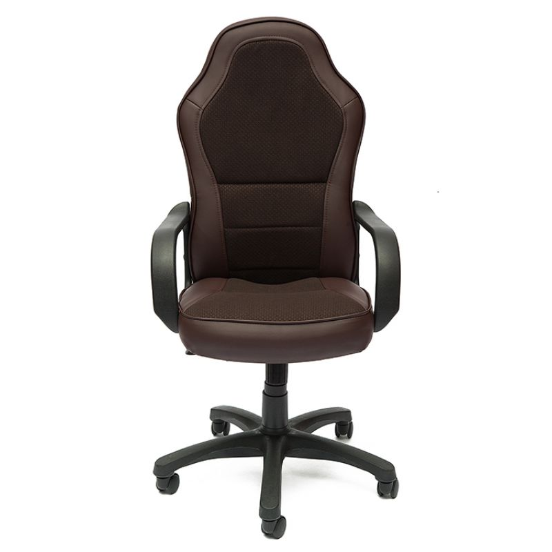 Кресло компьютерное офисное «Каппа» (Kappa) (Искусств. корич. кожа + коричневая ткань)