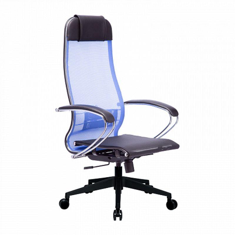 Кресло компьютерное МЕТТА 4 Васильковый для офиса и дома