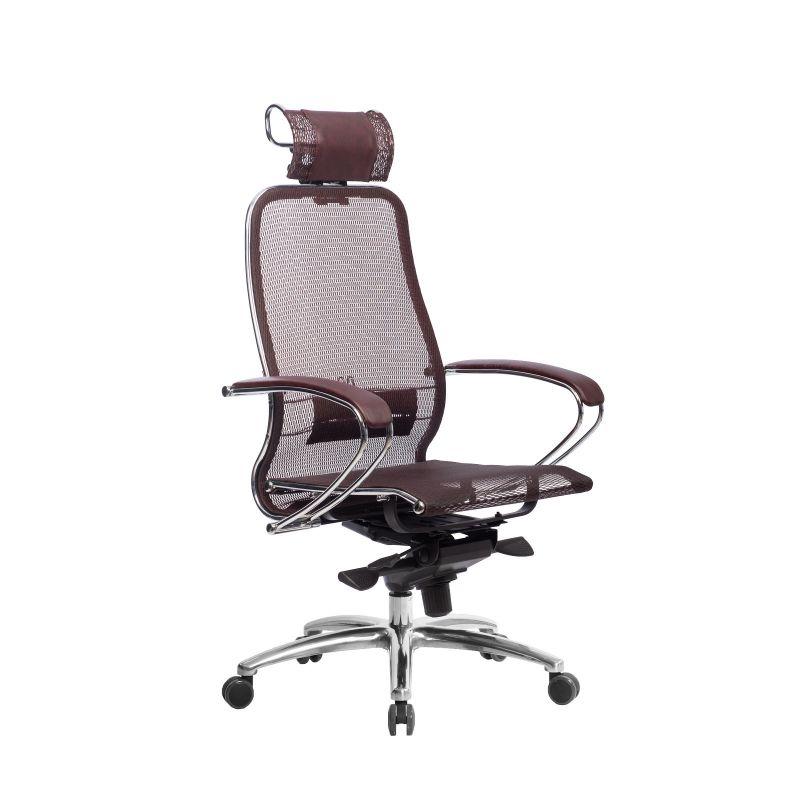 Кресло компьютерное для руководителя Samurai S-2.04 Темно-бордовый