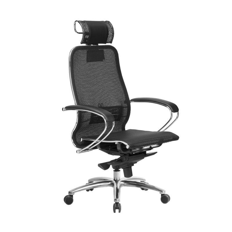 Кресло компьютерное для руководителя Samurai S-2.04 Черный Плюс