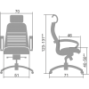Кресло Samurai KL-2.04 Темно-бордовый