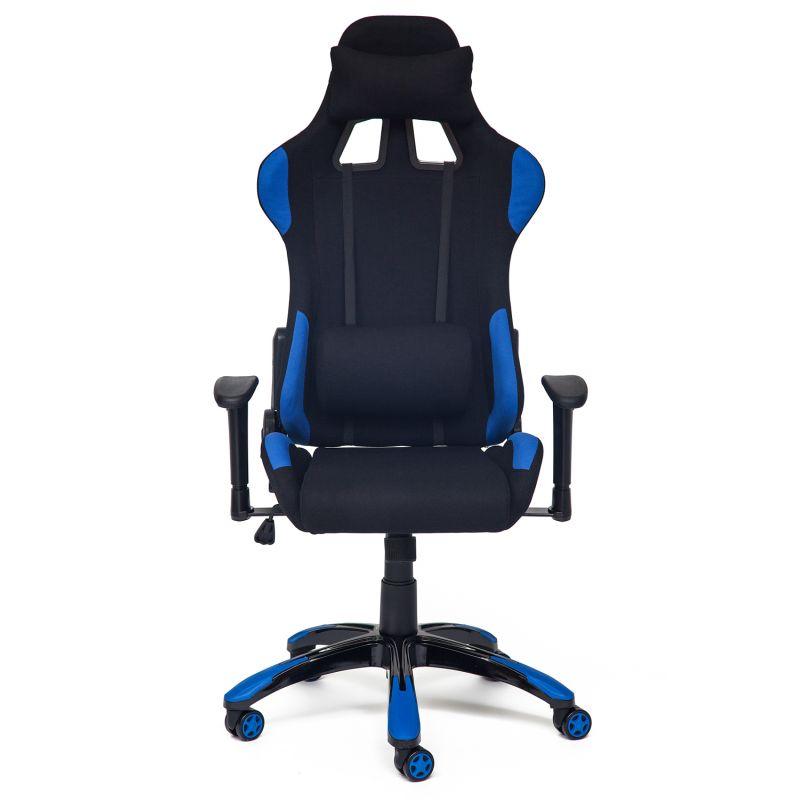 Кресло компьютерное офисное «Айгир» (iGear) (Чёрн. + синяя ткань)