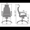 Кресло Samurai KL-2 Черный для офиса и дома (руководителя)
