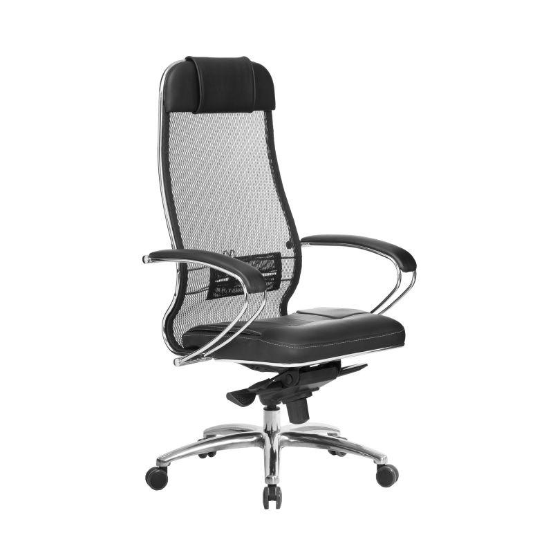 Кресло компьютерное для руководителя Samurai SL-1.04 Черный (для дома и офиса)
