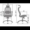 Кресло Samurai SL-3 Темно-бордовый для офиса и дома (руководителя)