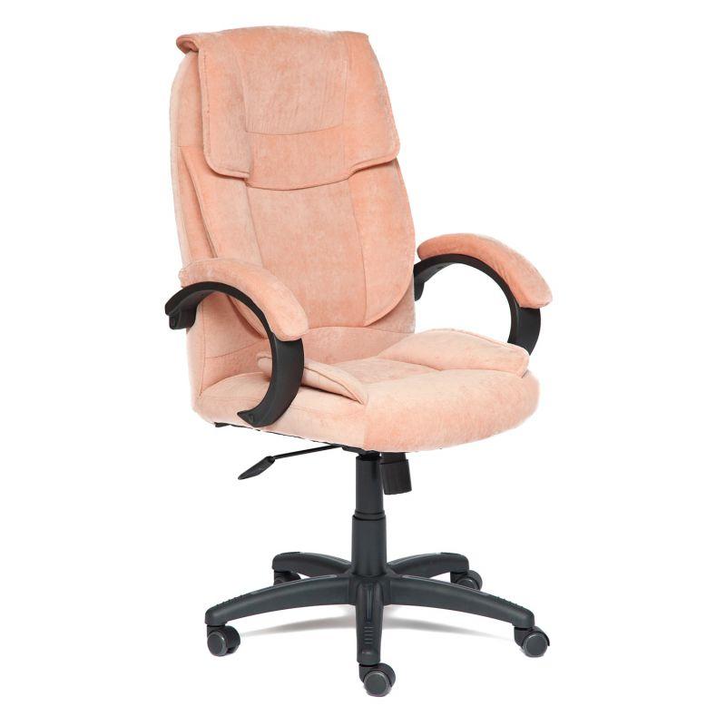 Кресло компьютерное «Ореон» для офиса и дома (Oreon) (розовый, мисти роуз флок)