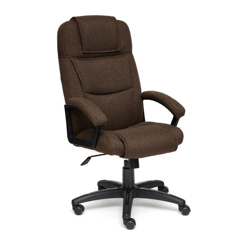 Кресло компьютерное для офиса и дома «Бергамо» (Bergamo) (Коричневая ткань)