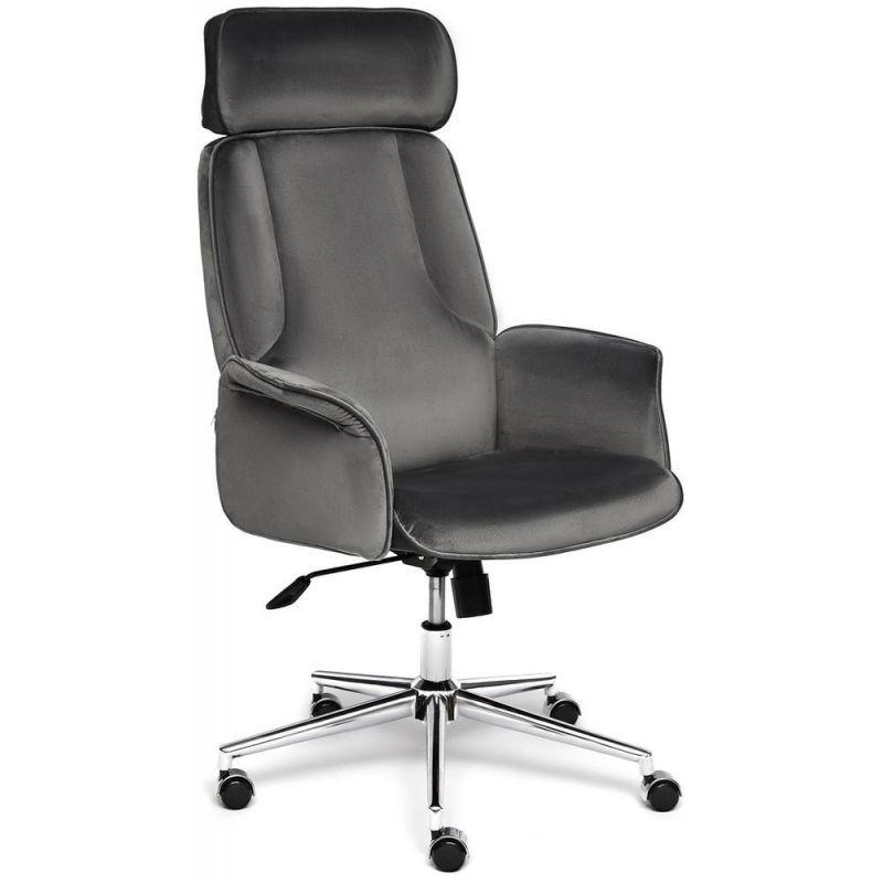 Кресло компьютерное Charm Серый Велюр