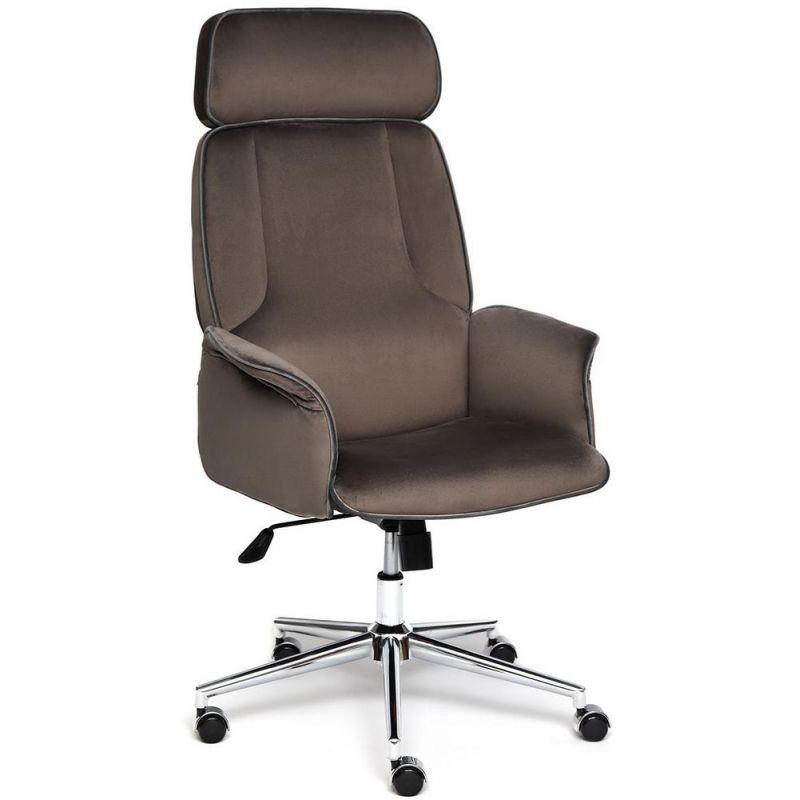Кресло компьютерное Charm Коричневый Велюр