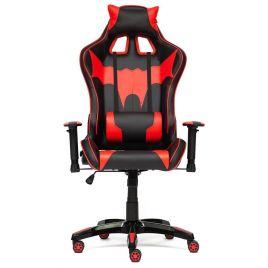 """Кресло компьютерное геймерское """"iBat"""" черный/красный для офиса и дома"""