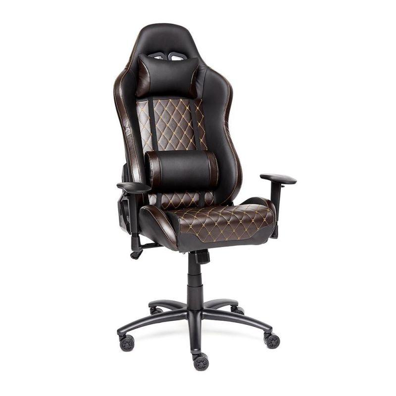"""Кресло компьютерное геймерское """"iChess"""" Черный/коричневый для офиса и дома"""