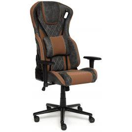 """Кресло компьютерное геймерское """"iMatrix"""" Серый/коричневый для офиса и дома"""