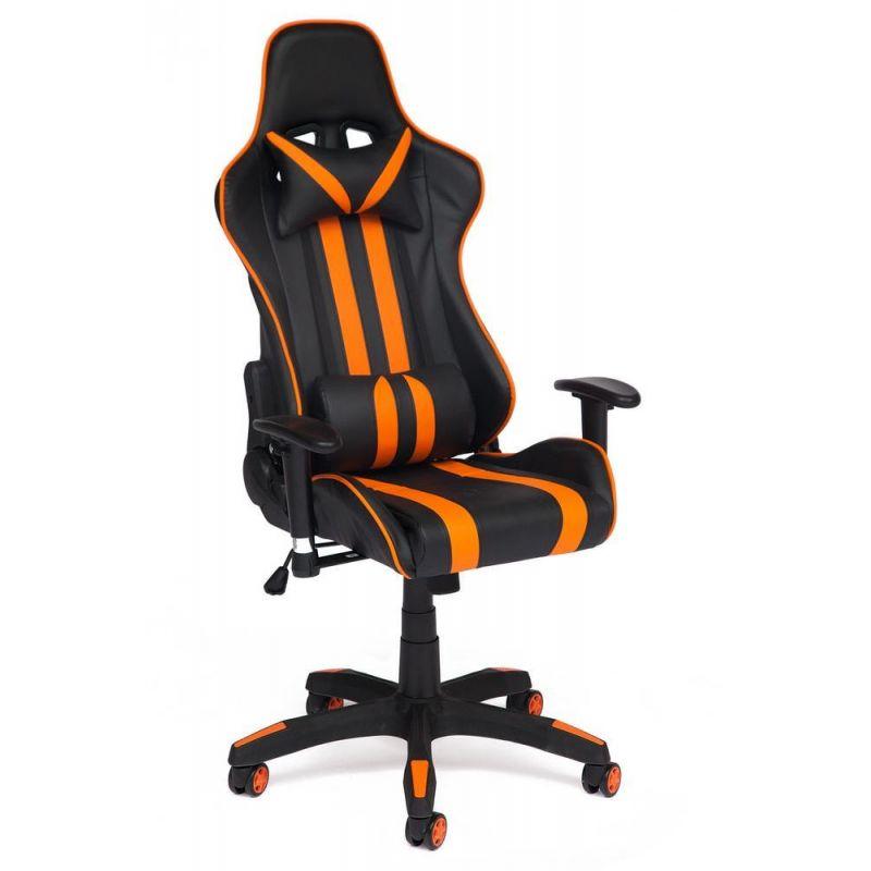"""Кресло компьютерное геймерское """"Айкар"""" черный/оранжевый для офиса и дома"""