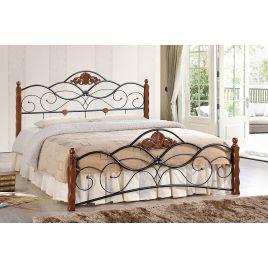 Кровать кованая «Канцона» (Canzona) + основание Красный дуб