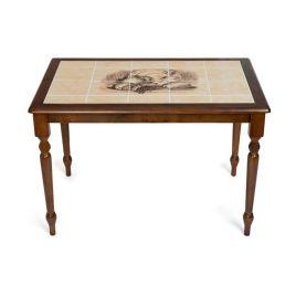 Стол обеденный деревянный СТ 3045Р Темный дуб (орех) рис. натюрморт