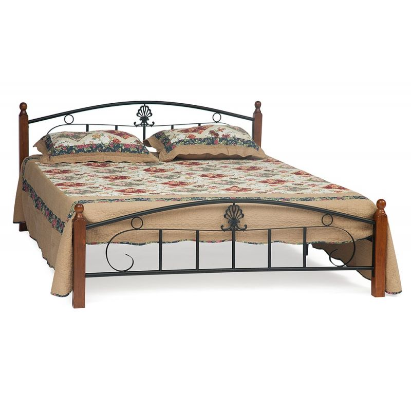 Металлическая двуспальная кровать Румба (метал. каркас) + металл. основание (160 см х 200 см)