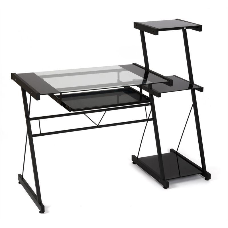 Компьютерный стол со стеллажом WRX-08 (Прозрачное)