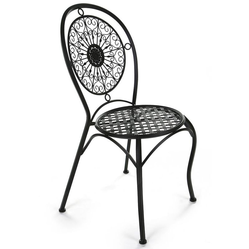 Кованый стул «Глория» Gloria Чёрный