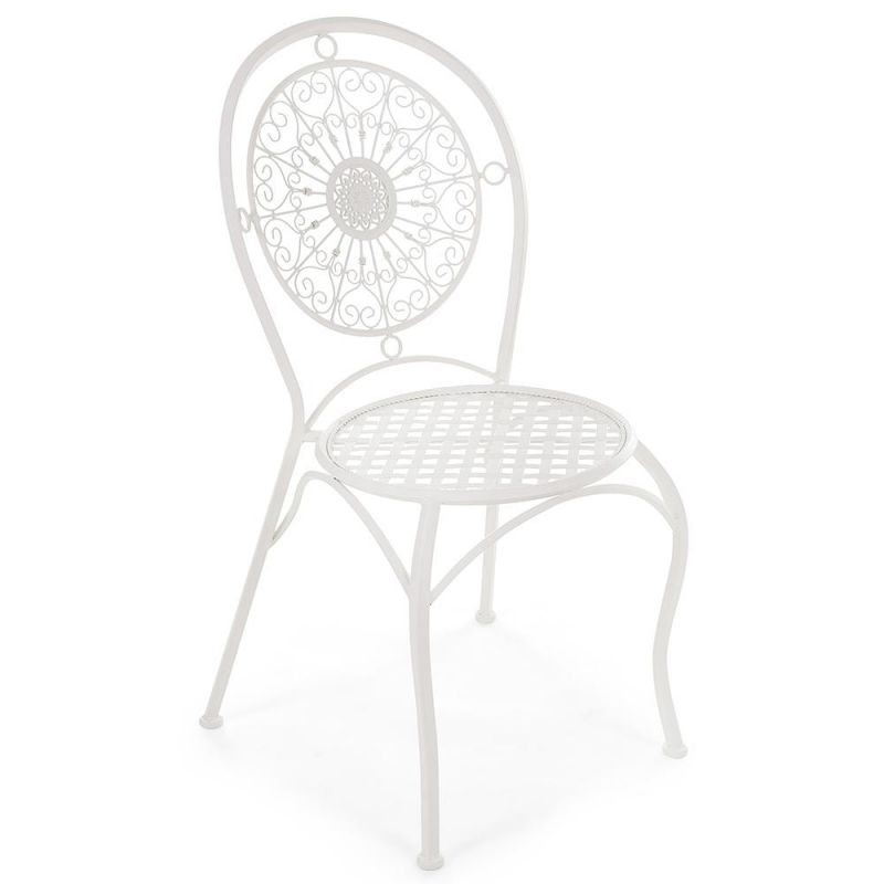 Кованый стул «Глория» Gloria Белый ( Молочный )