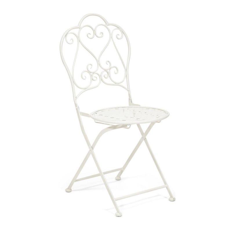 Кованый стул  «Лав Чэйр» Love Chair Белый ( Молочный )