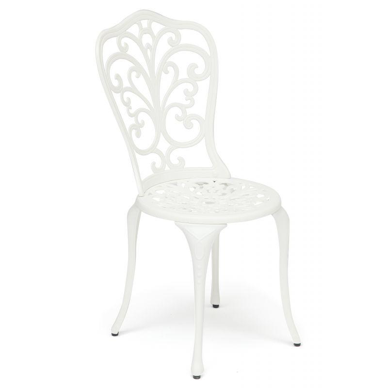 Кованый стул «Моцарт» Mozart Белый