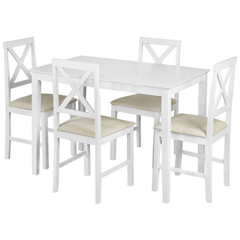 Обеденный комплект «Хадсон» (Hudson) (стол + 4 стула) Белый