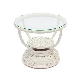Кофейный столик «Андреа» (Andrea) нат. ротанг Белый