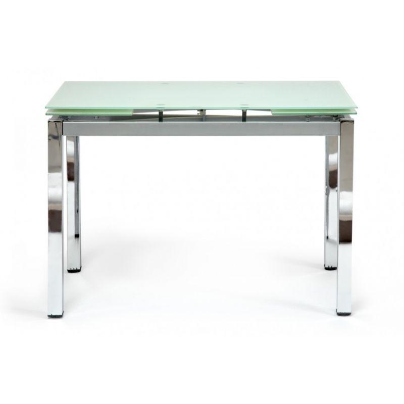 Стол обеденный стеклянный раскладной «Campana» Белый
