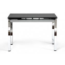 Стол обеденный стеклянный раскладной «Campana» Черный