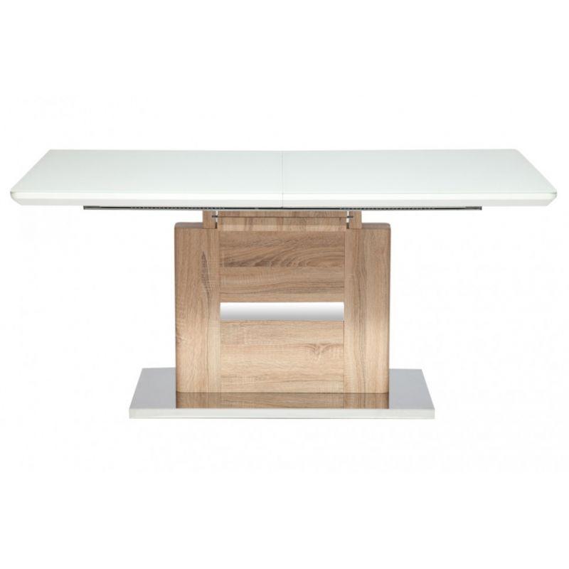 Стол обеденный стеклянный раскладной «Foster» (Фостер) Белый