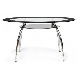 Стол для кухни стеклянный обеденный «Sadler» (Садлер) Прозрачный