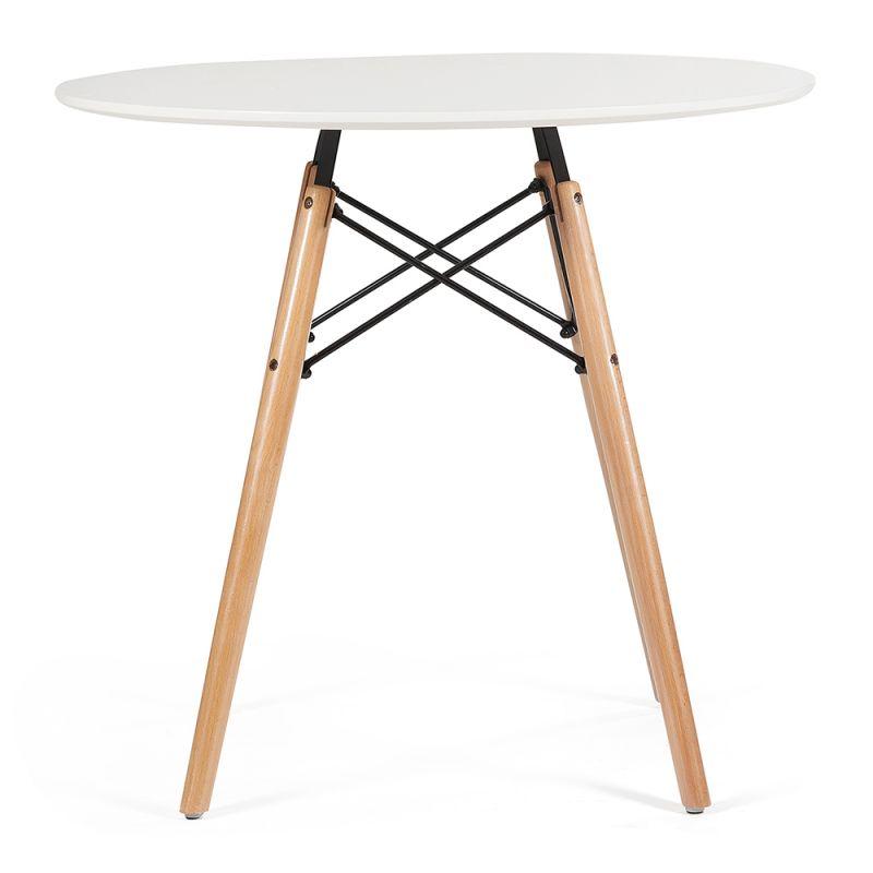 Стол для кухни обеденный дизайнерский круглый «Cindy» 1000 Белый