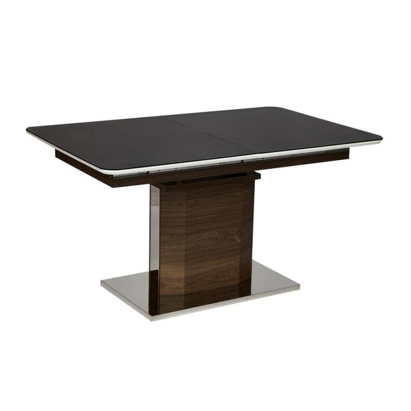 Стол обеденный стеклянный раздвижной «Radcliffe» ( Черный )