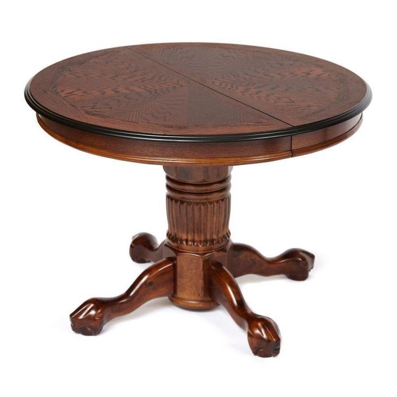 Стол обеденный деревянный круглый раскладной 4260STC Темный орех