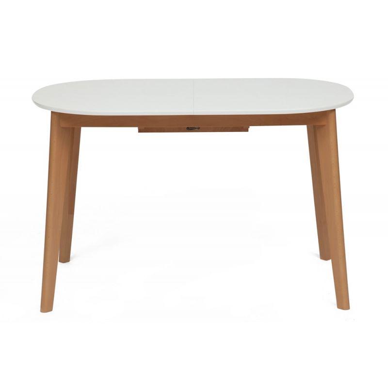 Стол обеденный деревянный раскладной «Боско» (Bosco Buk) (Бук+белый)