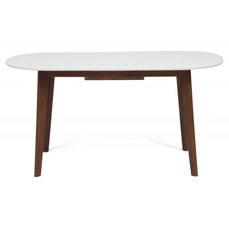 Стол обеденный деревянный раскладной «Боско» (Bosco Brown) (Коричневый+белый)