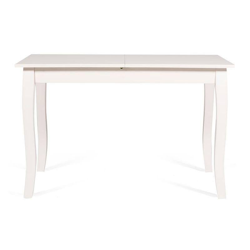 Стол для кухни обеденный раскладной деревянный «Hephaestus» Молочный