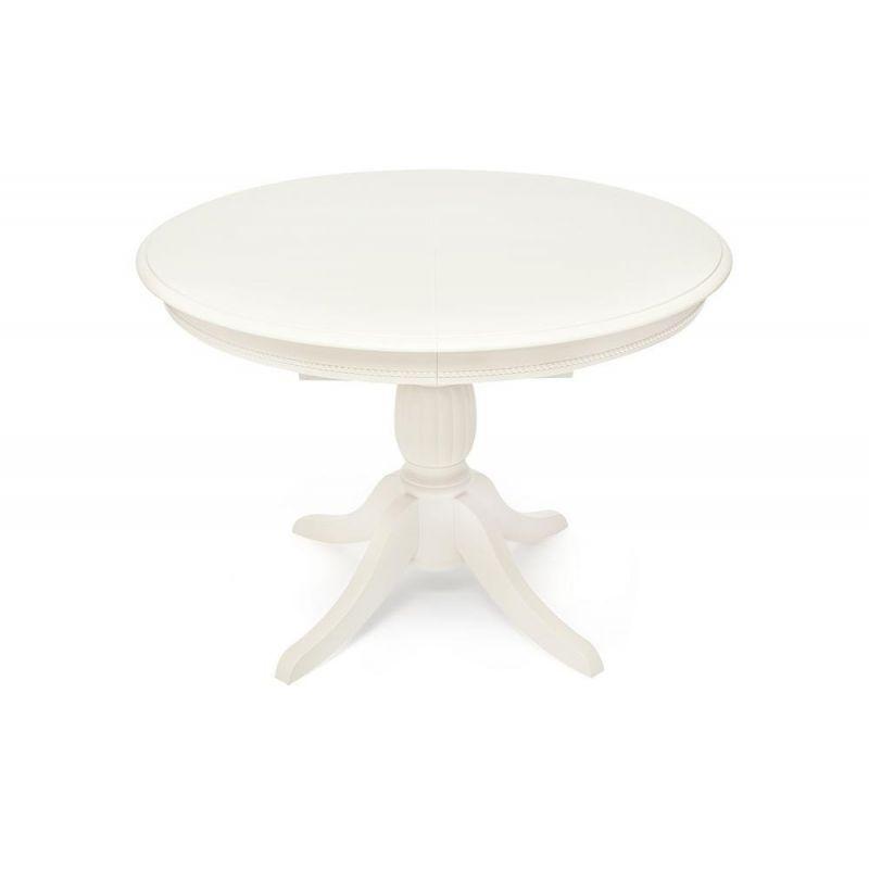 Стол обеденный деревянный раскладной Леон Leon Белый