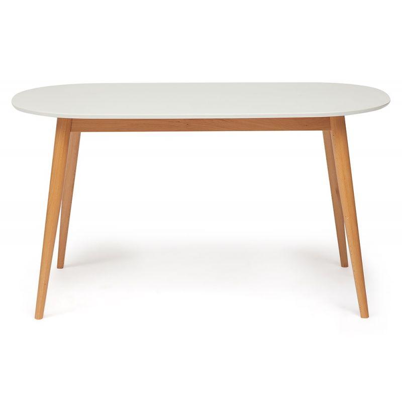 Стол обеденный деревянный «Макс» (Max Buk) (Бук+белый)