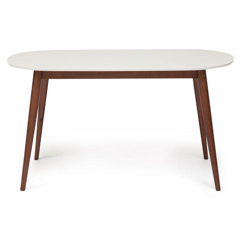 Стол обеденный деревянный «Макс» (Max Buk) (Коричневый+белый)