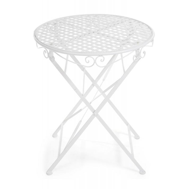 Кованый стол круглый Secret De Maison «Патио» (Patio) (Белый)