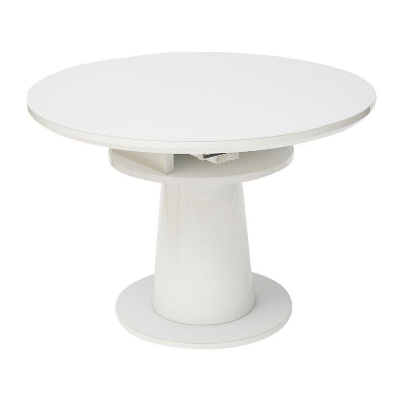 Стол обеденный стеклянный раздвижной SOLARA Белый